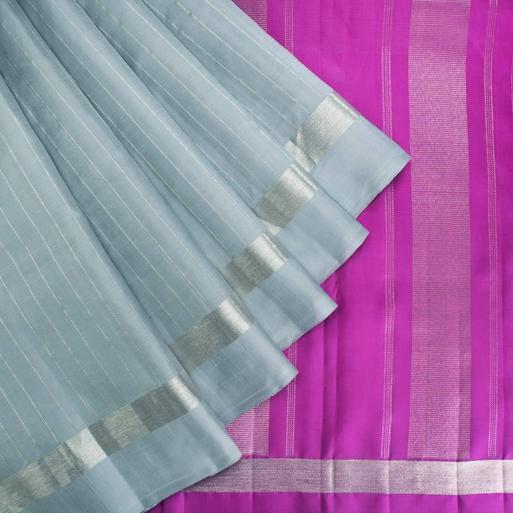Powder-Blue-Korvai-Kanjivaram-Silk-Handloom-Saree