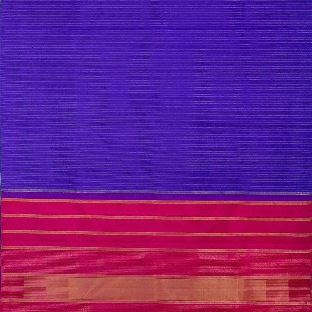 BB111661-Ultramarine Blue Checkered Kanjivaram Silk Handloom Saree