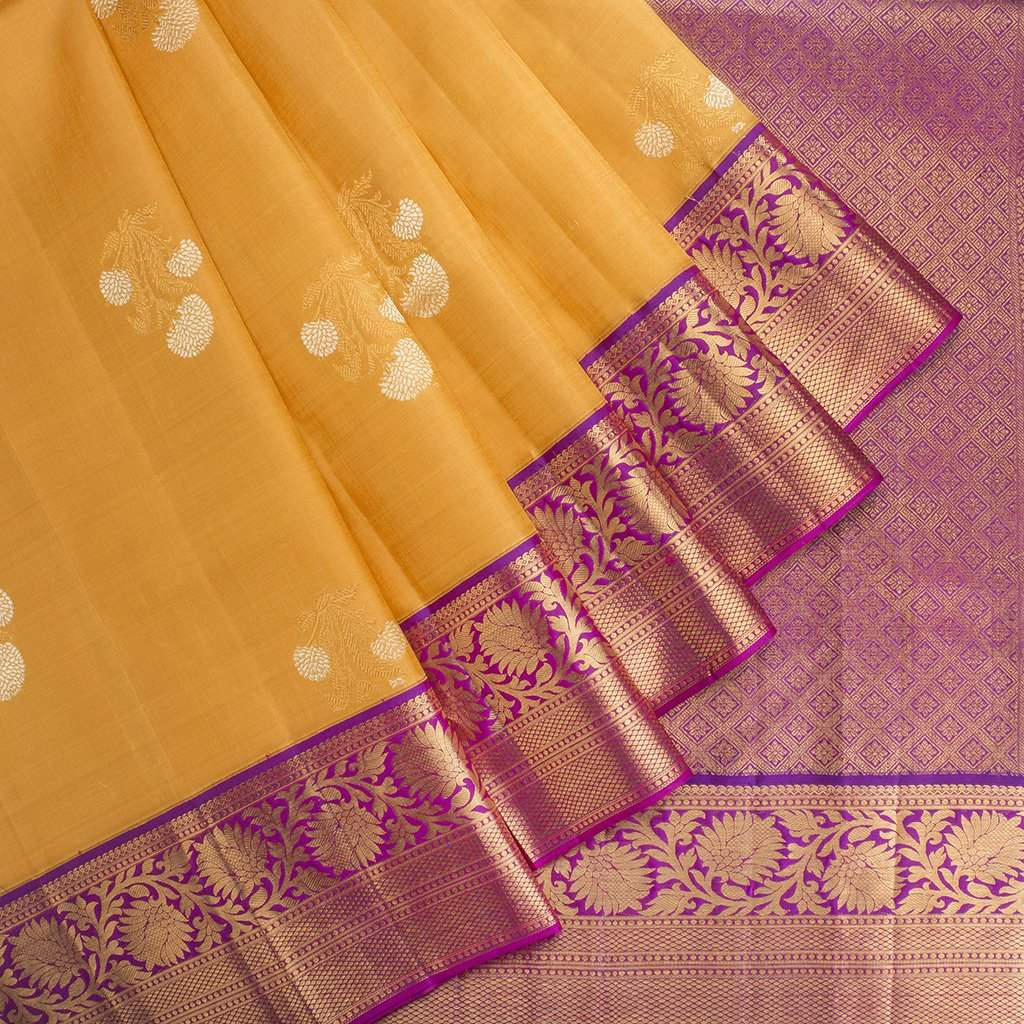 Canary-Yellow-Korvai-Kanjivaram-Silk-Handloom-Saree