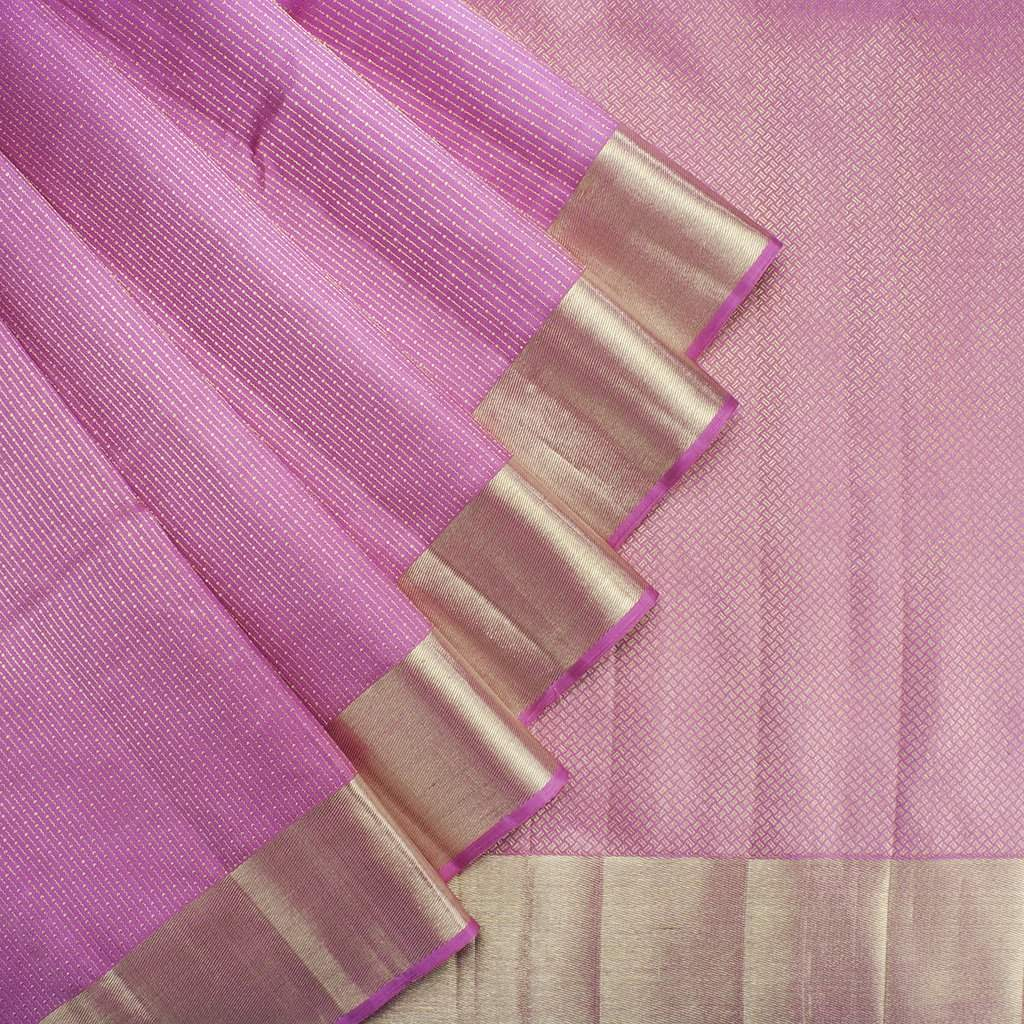 Bubblegum-Pink-Kanjivaram-Silk-Handloom-Saree-With-Selfcolor-Border