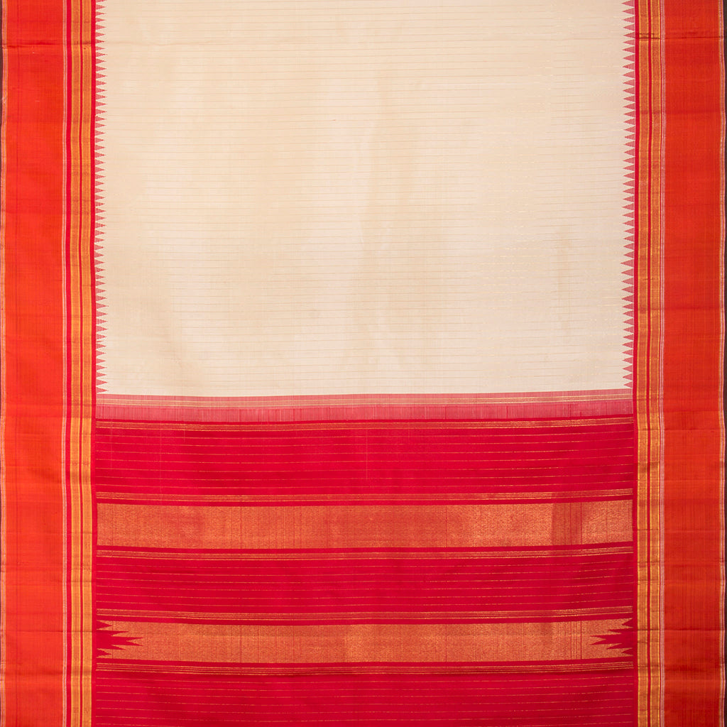 BB112052-White Gadwal Silk Handloom Saree