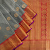 Deep-Grey-Korvai-Kanjivaram-Silk-Handloom-Saree