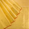 Daffodil-Yellow-Kanjivaram-Silk-Handloom-Saree-With-Selfcolor-Border