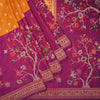 Buy Amber Banarasi Silk Handloom Saree