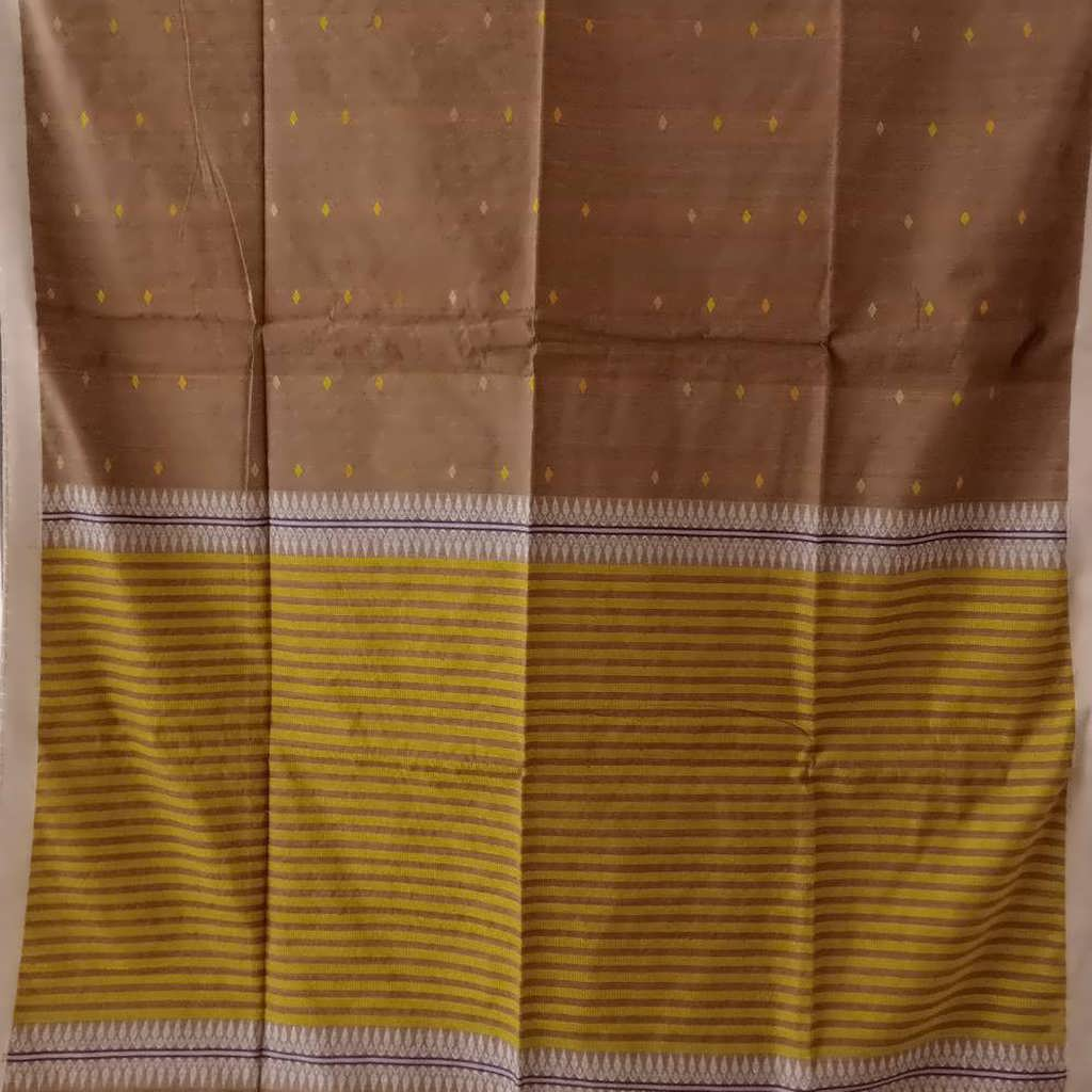 SALE056626-Peanut Brown Bailu Saree.