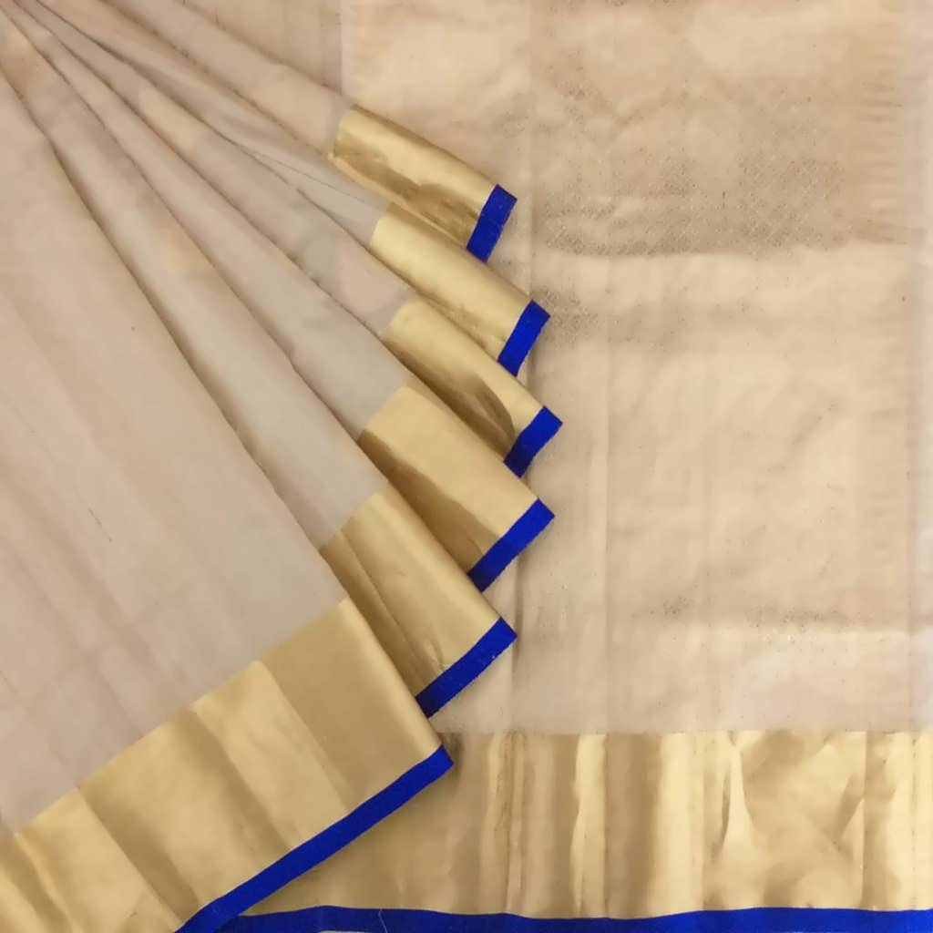 Buy Tan Beige Tussar Saree.