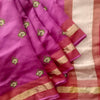 Buy Rani Pink Embroidered Handloom Saree.