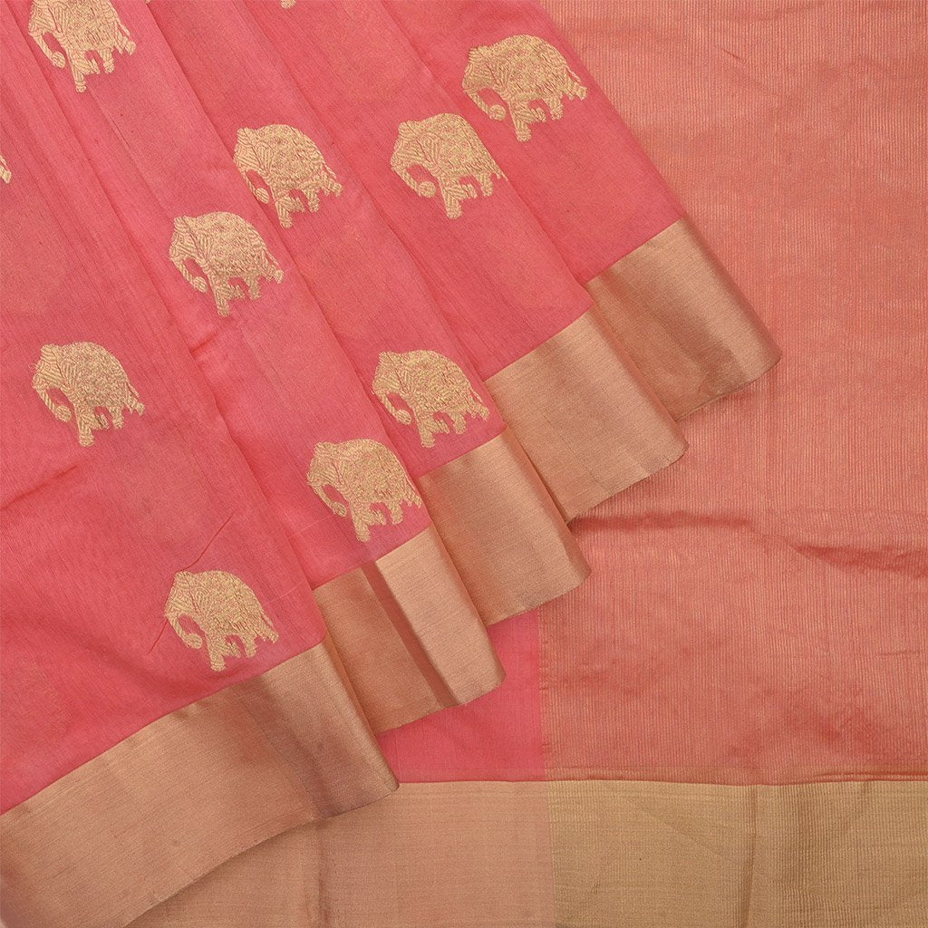 Buy Punch Pink Pranpur Silk Handloom Saree