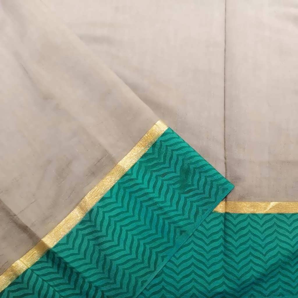 SALEBB1051982-Cloud Grey Chanderi Printed Handloom Saree
