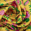 Buy Yellow Raw Silk Embroidery Fabric