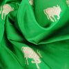 Buy Green Chanderi Silk Fabric