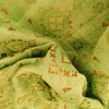 Buy Green Chanderi Foil Printed Fabric