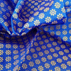 Buy Blue Silk Printed Fabric