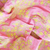 Buy Pink Raw Silk Embroidery Fabric
