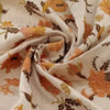 Buy Cream Raw Silk Embroidery Fabric