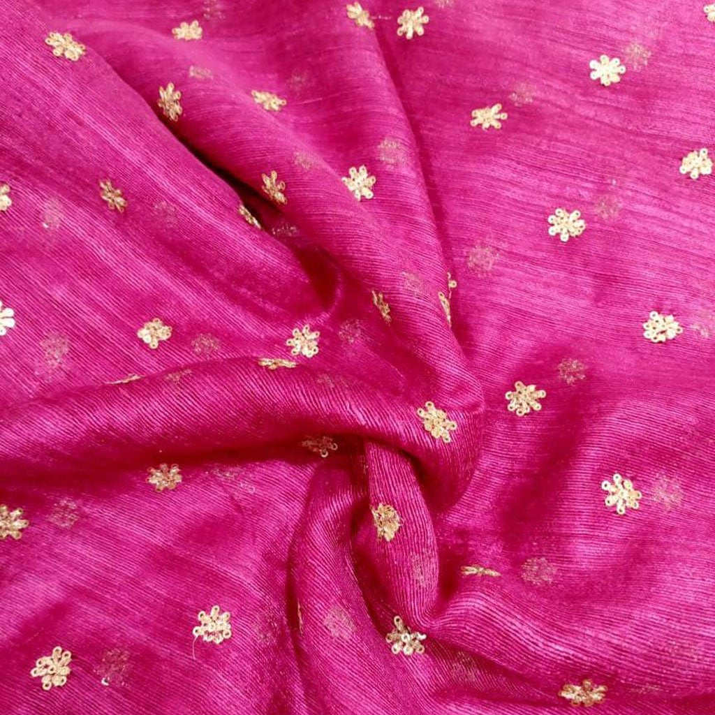 Buy Pink Matka Embroidery Fabric