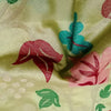 Buy Green Chanderi Embroidery Fabric