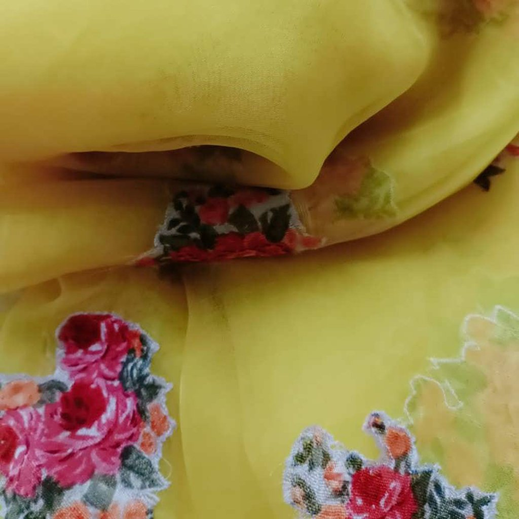Buy YellowOrganza Patch Work Fabric