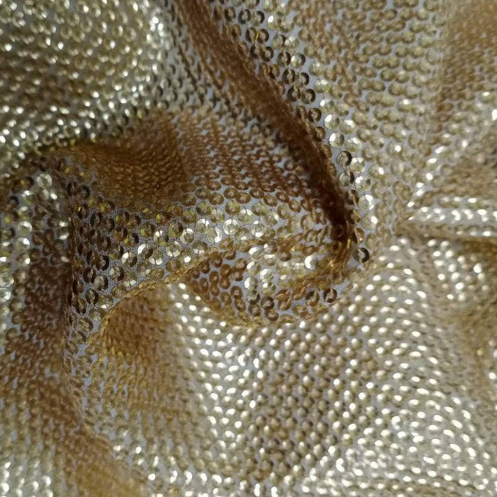 Buy White-GoldGeorgette Embroidery Fabric