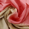 Buy Beige-Pink Tussar Silk Fabric
