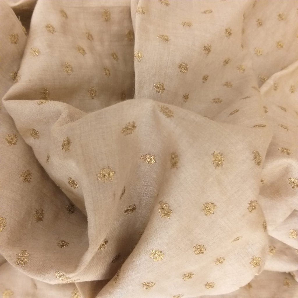 Buy Beige Tussar Fabric