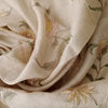 Buy Cream Tussar Embroidered Fabric