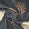 Buy Black Spun Printed Fabric