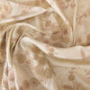Buy Cream Raw Silk Embroidered Fabric