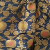 Buy Blue Banarasi Silk Fabric