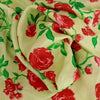 Buy Green Silk Printed Fabric