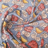 Buy Blue Kalamkari Silk Fabric