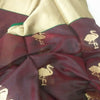 Buy Maroon Chanderi Silk Fabric