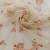 Buy Cream Net Embroidery Fabric