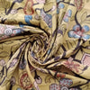 Buy Mustard Kalamkari Cotton Fabric