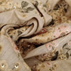 Buy Cream Tussar Embroidery Fabric