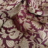 Buy Brown Banarasi Silk Fabric