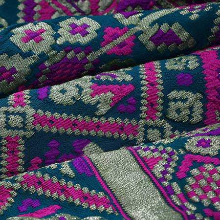 SALEH12-Dark Cyan Green Bandhani Saree