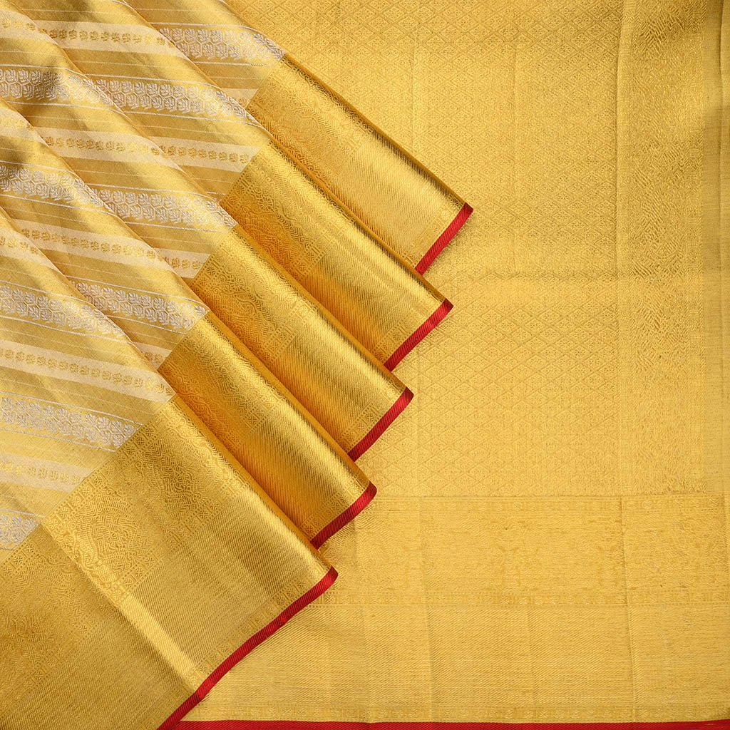 Buy Gold Kanjivaram Silk Handloom Saree