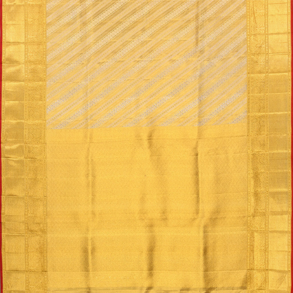 SALEK36-Gold Kanjivaram Silk Handloom Saree