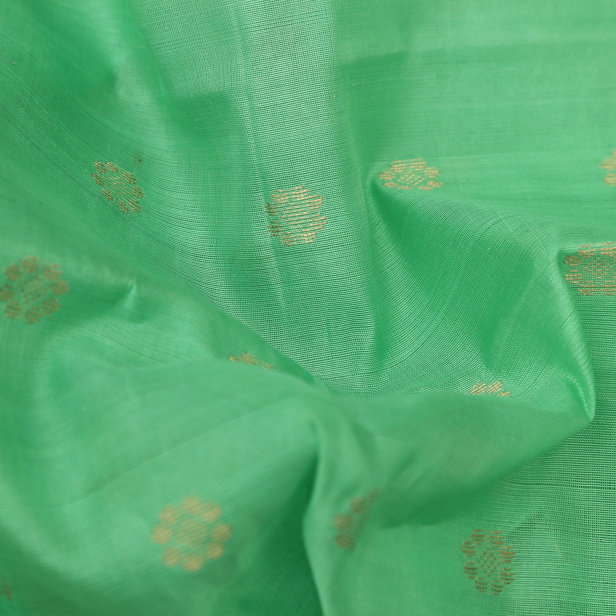 Light Aqua Green Banarasi Silk Unstitched Blouse Fabric-95CM
