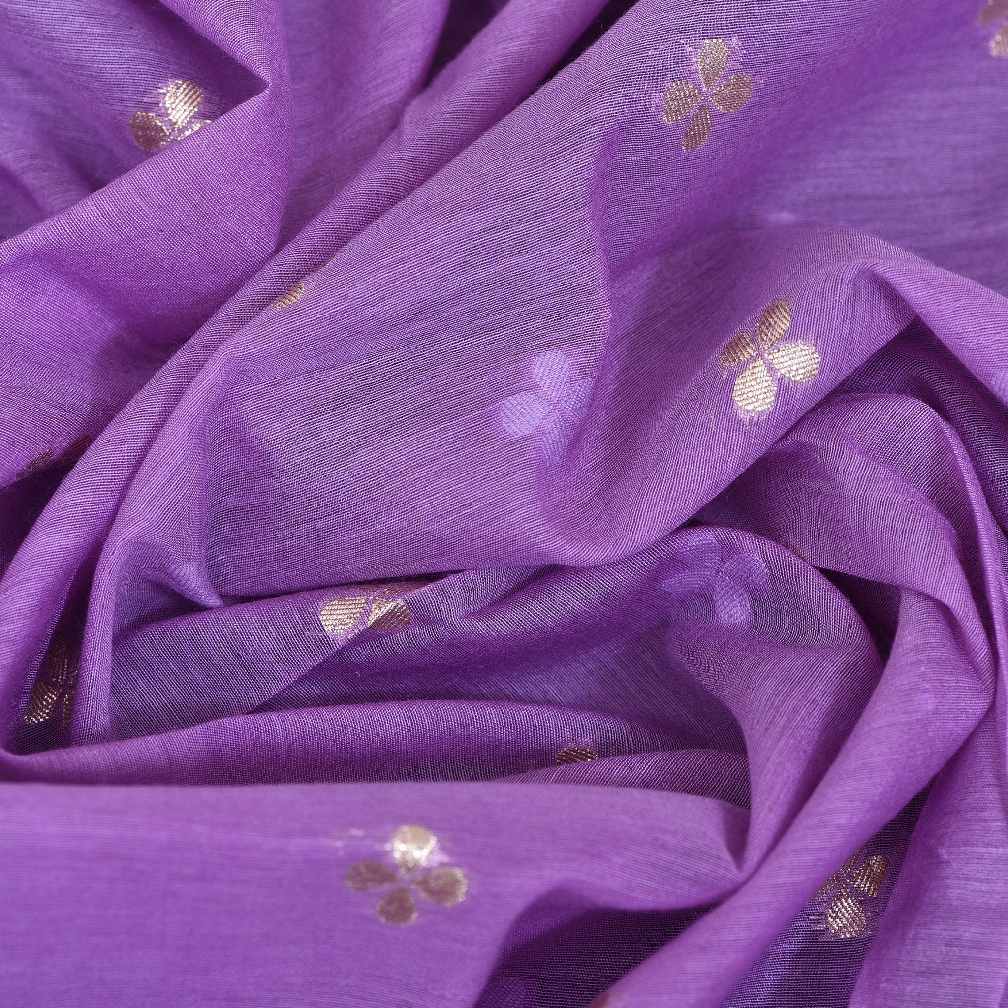 Periwinkle-Purple-Chanderi-Blouse-Fabric