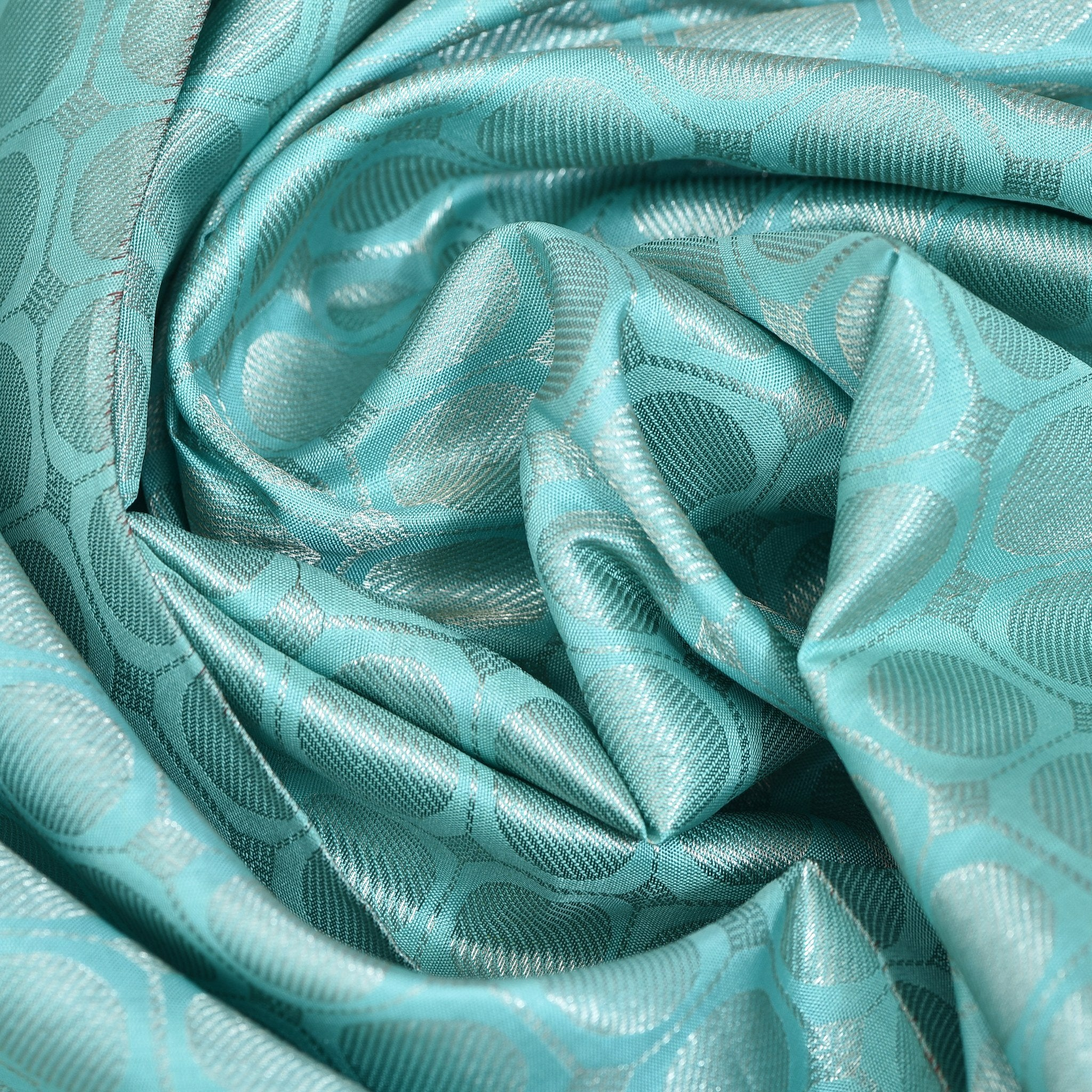 Mint-Green-Kanjivaram-Silk-Blouse-Fabric