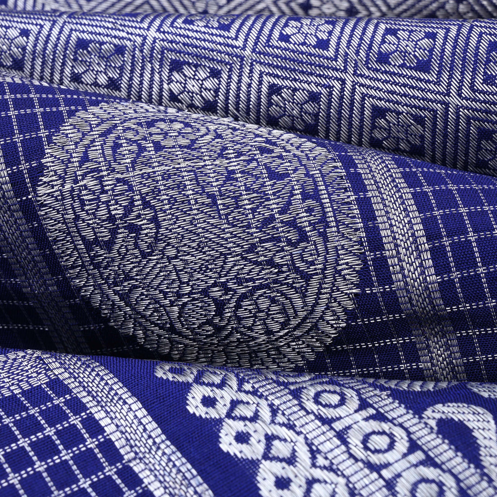 Navy Blue Venkatagiri Silk Handloom Saree