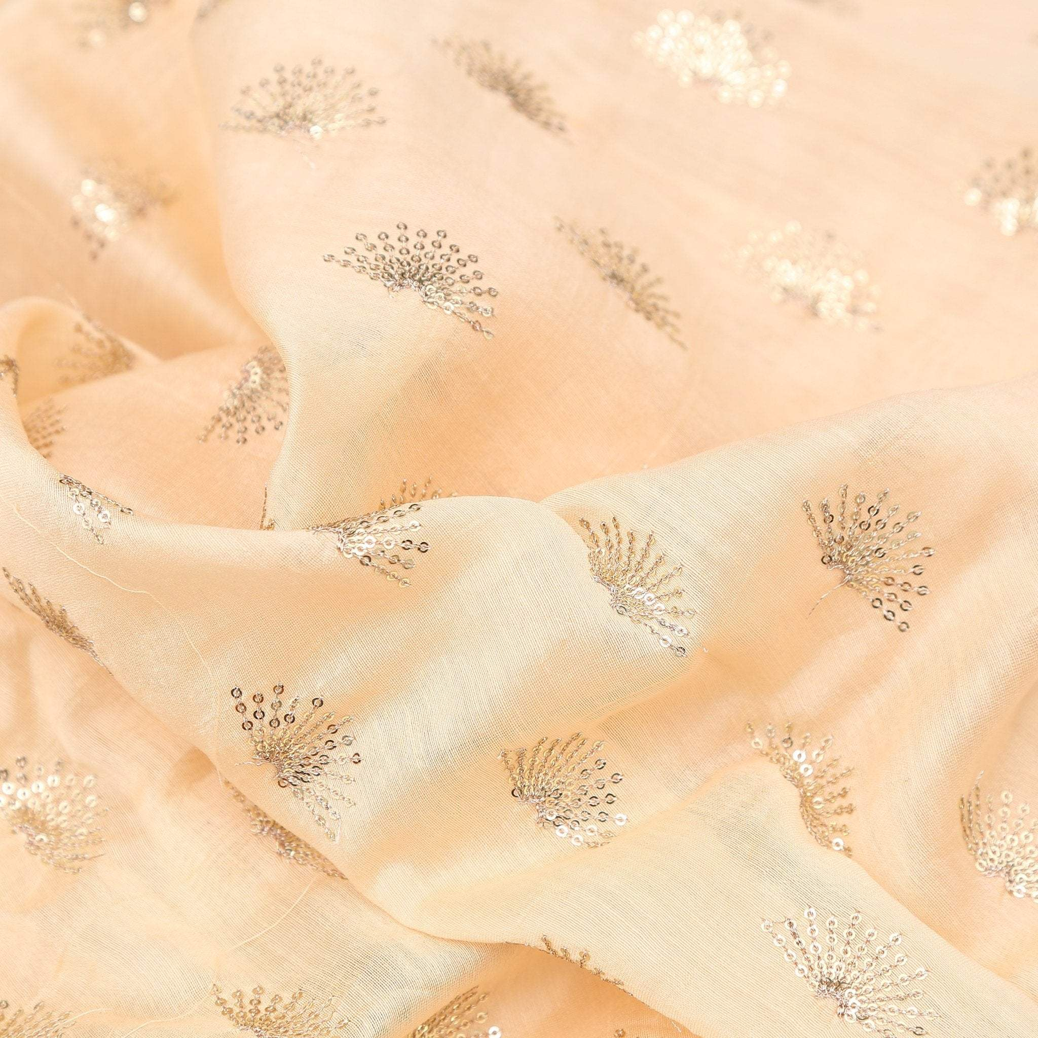 buy Daffodil Yellow Chabderi Silk Fabric Online