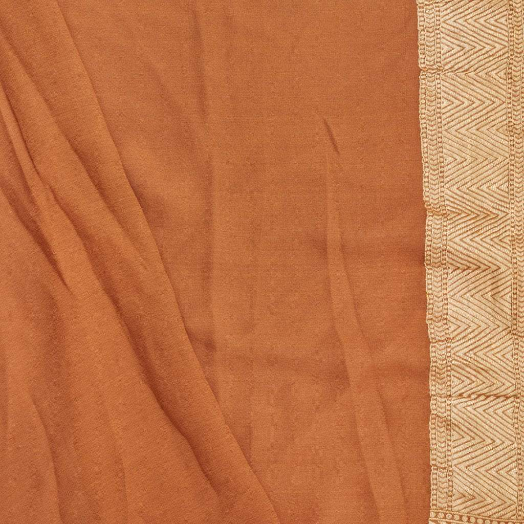228985-Chestnut Brown Banarasi Georgette Saree