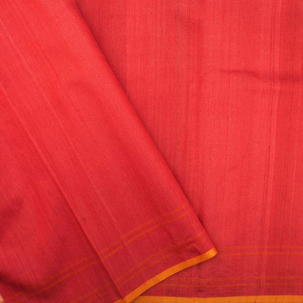 Vermillion Banarasi SIlk Handloom Saree With Jaal Design-229631 - Singhania's