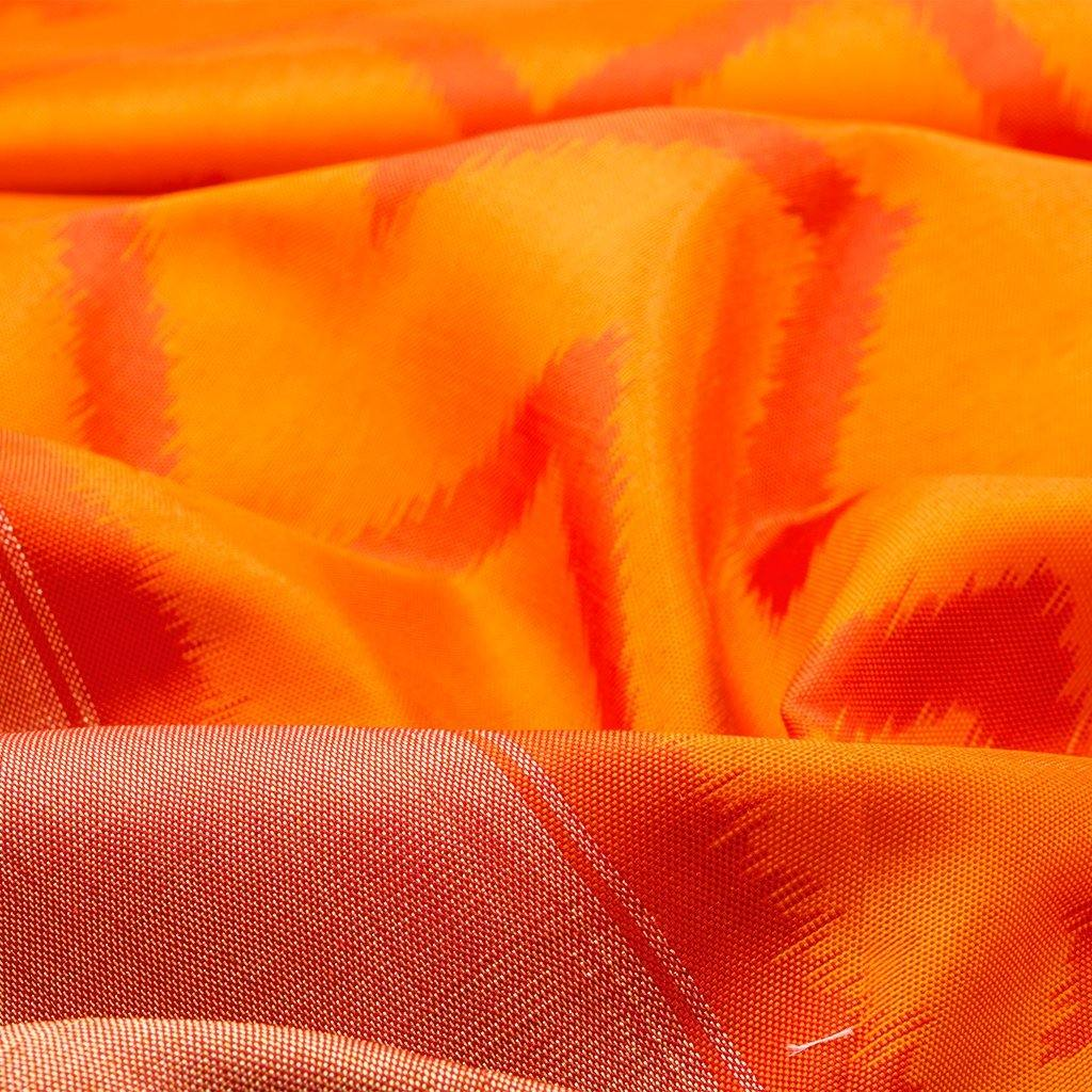 242476-Fiery Yellow Ikkat Silk Handloom Saree