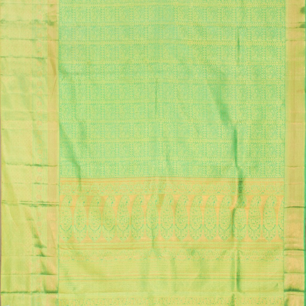 Vivid Green Kanjivaram Silk Handloom Saree