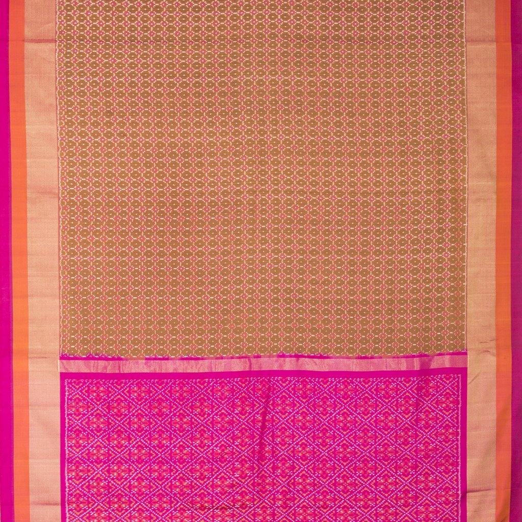 Multicolor Ikkat Silk Handloom Saree-242451 - Singhania's