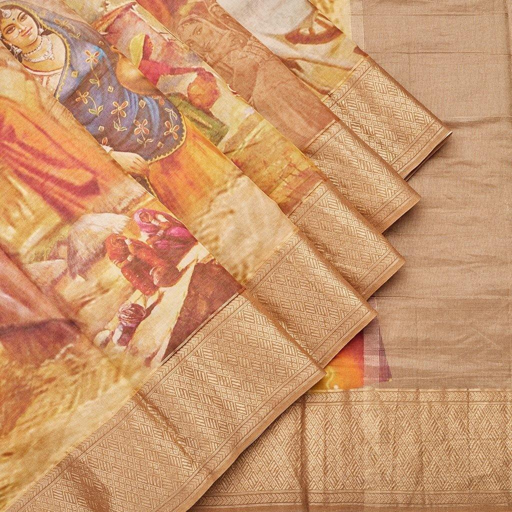 Multicolor Chanderi Printed Saree-244970 - Singhania's